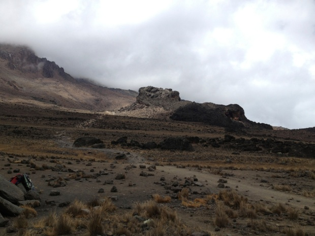 Barren landscape with Lava Tower in the distance