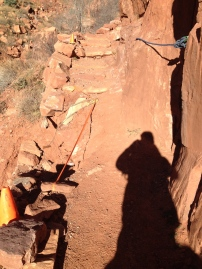 Damaged section of the North Kaibab trail